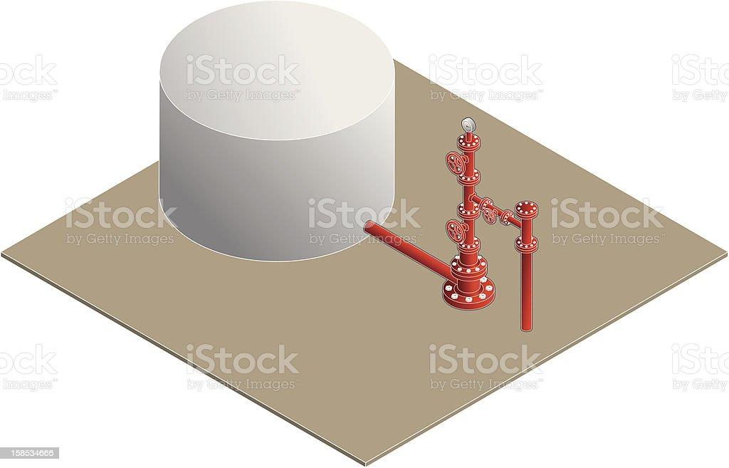 Gas Well Head vector art illustration