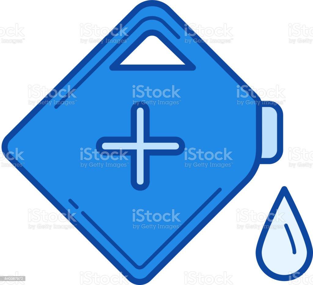 Gasoline can line icon vector art illustration