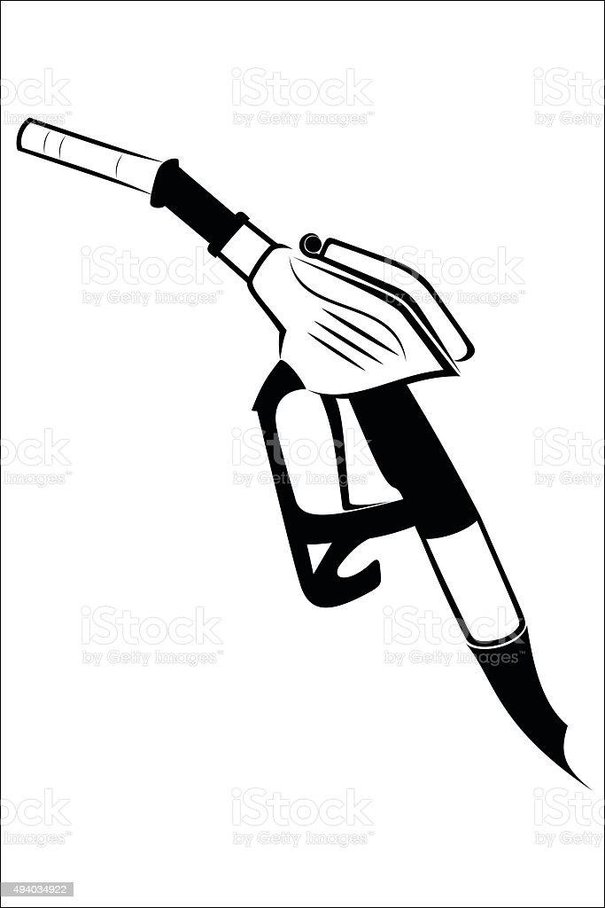 Gasoline pump nozzle royalty-free stock vector art
