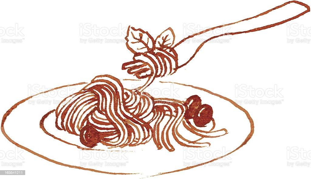 Gastronomy - Pasta royalty-free stock vector art