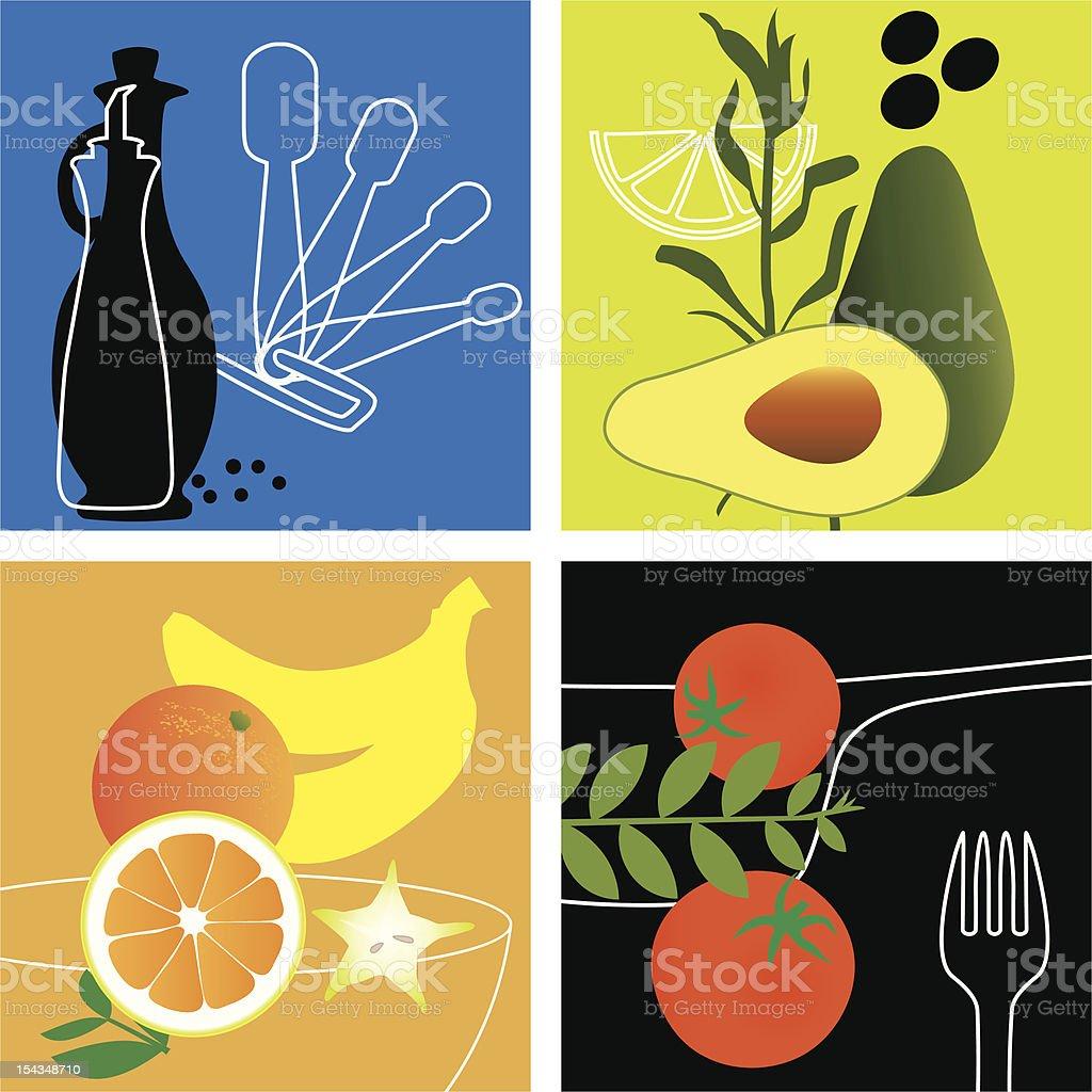 Gastronomy Project - Cuisine du Chef vector art illustration