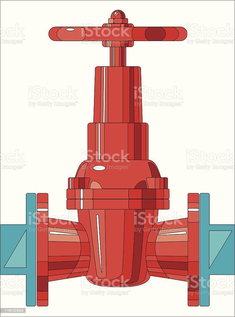 gate valve royalty-free stock vector art
