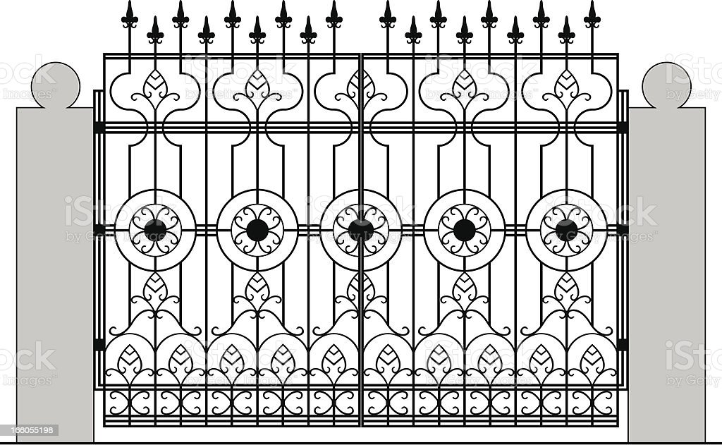 Gate. royalty-free stock vector art