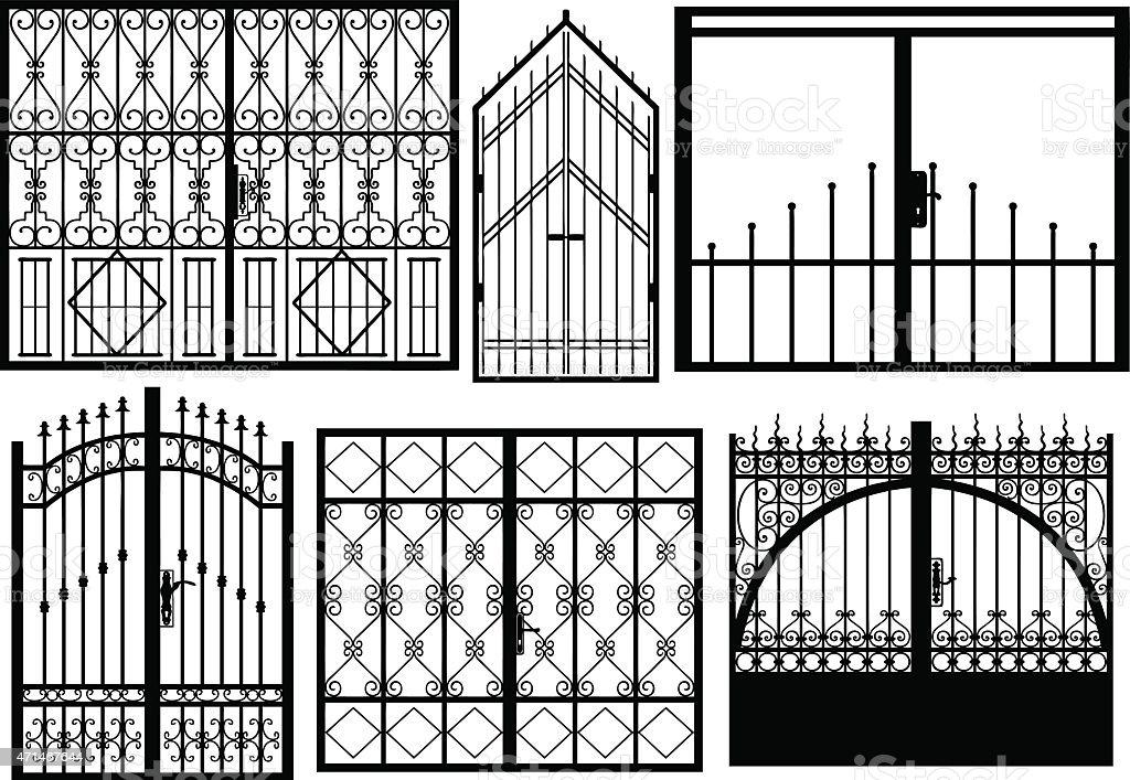 Gates vector art illustration