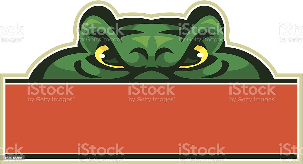 Gator Mascot Sign vector art illustration