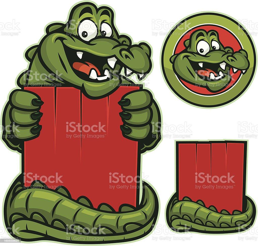 Gator mascot vector art illustration