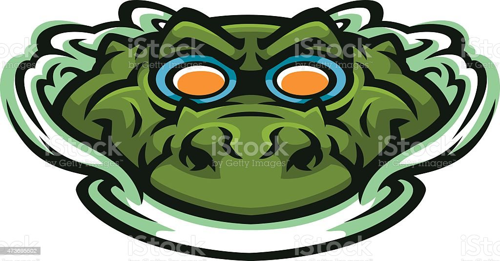 Gator swim team vector art illustration