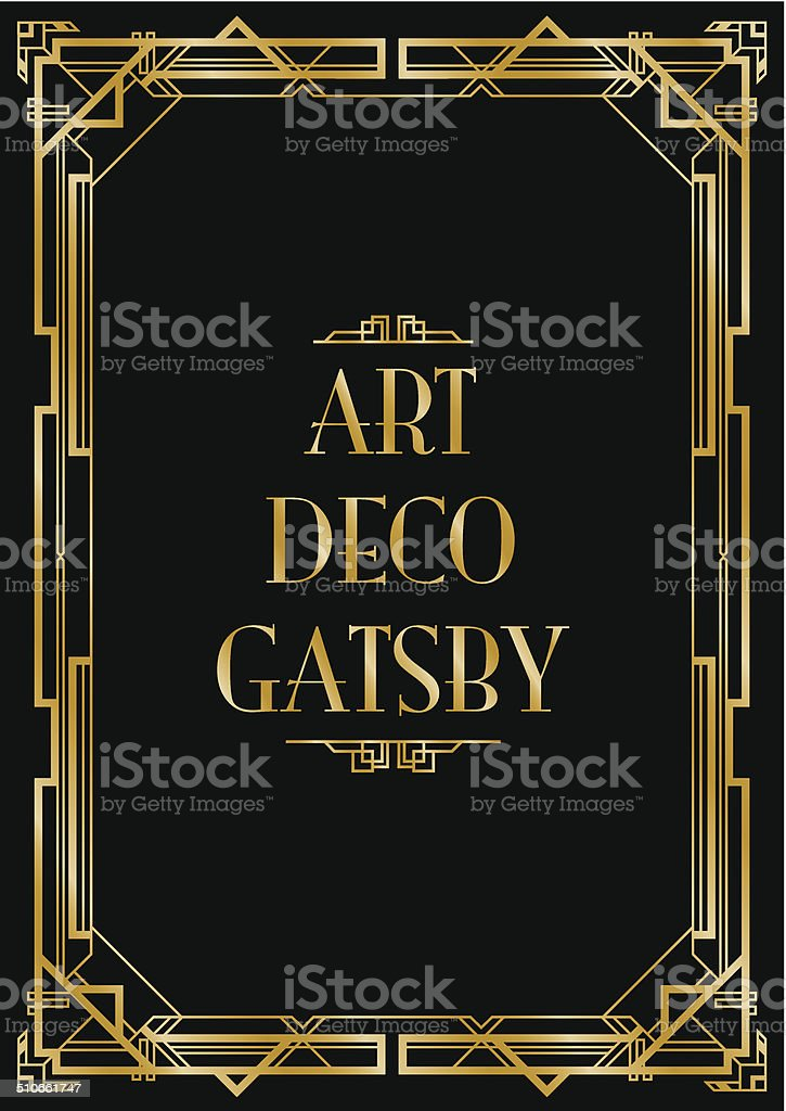 gatsby art deco background vector art illustration