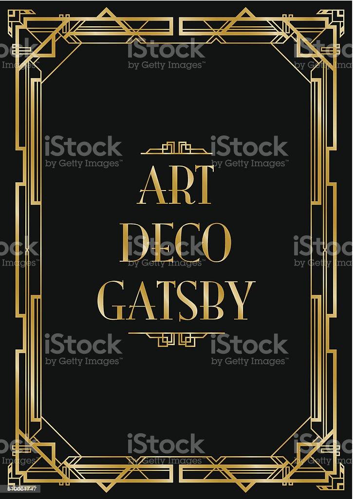 gatsby art deco background vector art illustration