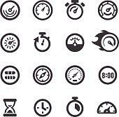 Gauge and Speedometer Icons - Acme Series