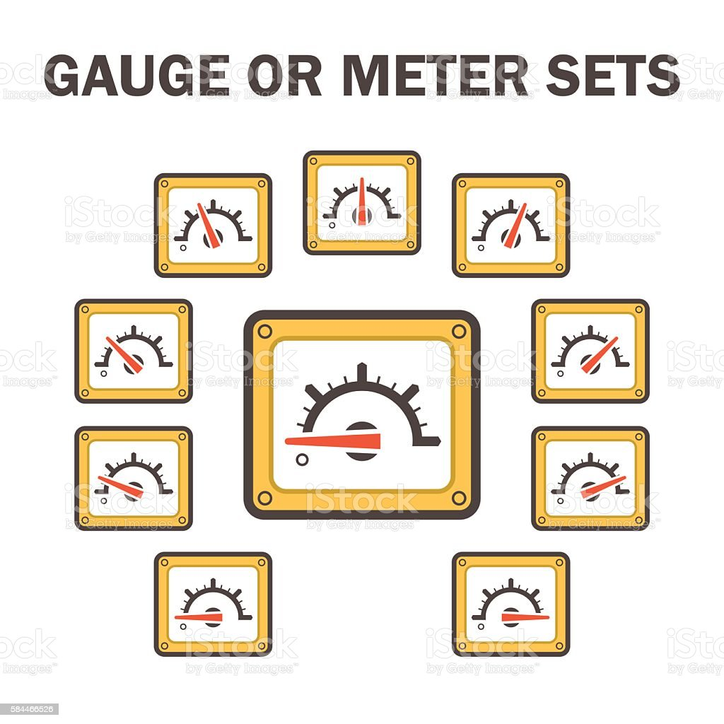 Gauge meter icon vector art illustration