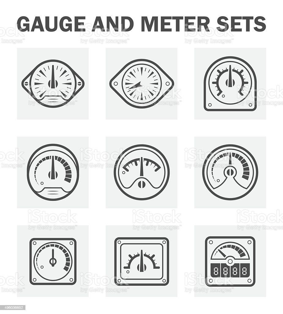 Gauge meter vector art illustration