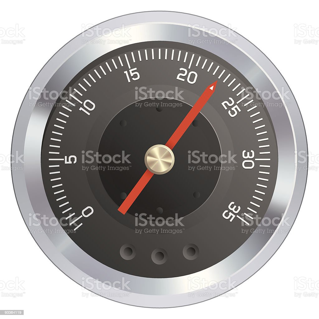 Gauge or meter illustration royalty-free stock vector art