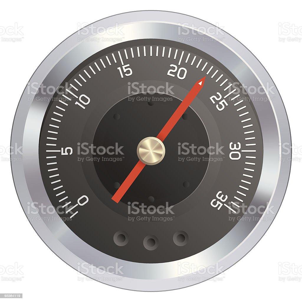 Gauge or meter illustration vector art illustration
