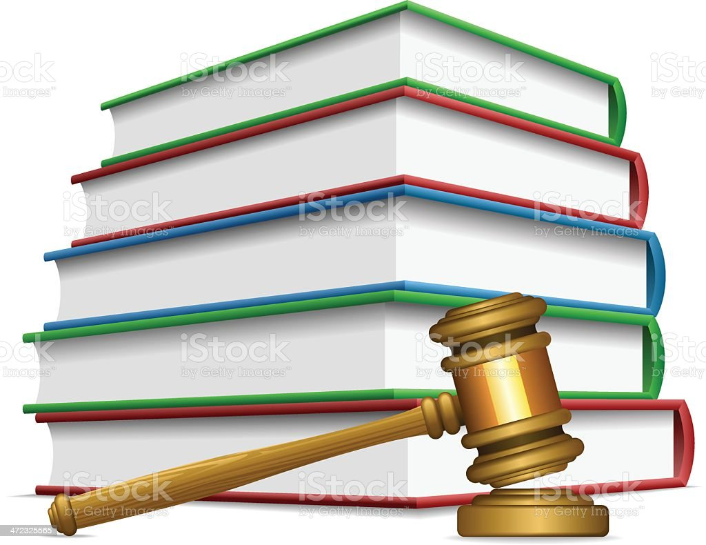 Gavel and books royalty-free stock vector art