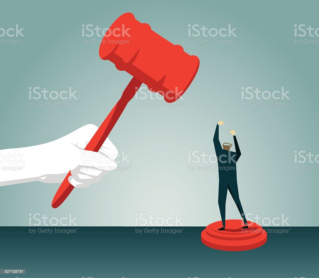 gavel, authority, judgement,law, justice,Protest, Displeased, Furious, Anger vector art illustration