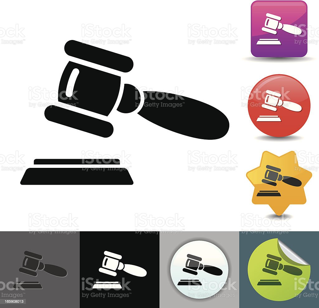 Gavel icon   solicosi series vector art illustration