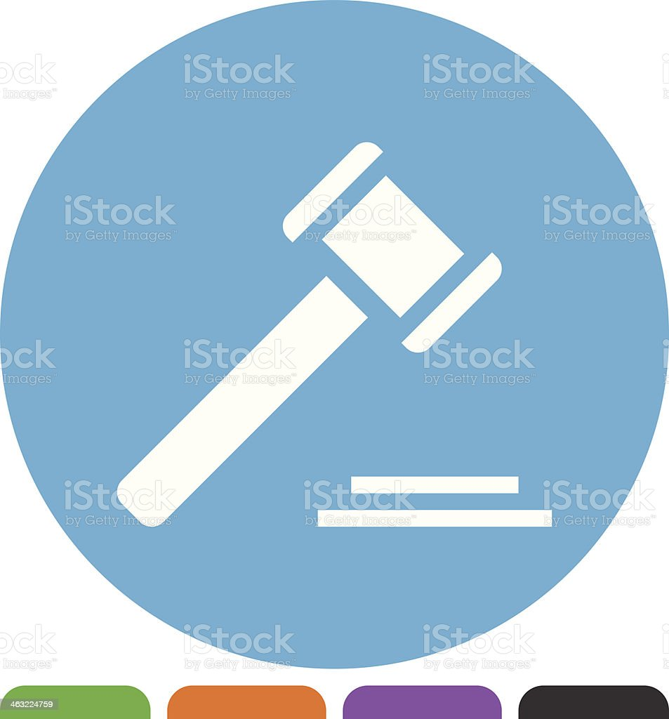 Gavel icon royalty-free stock vector art