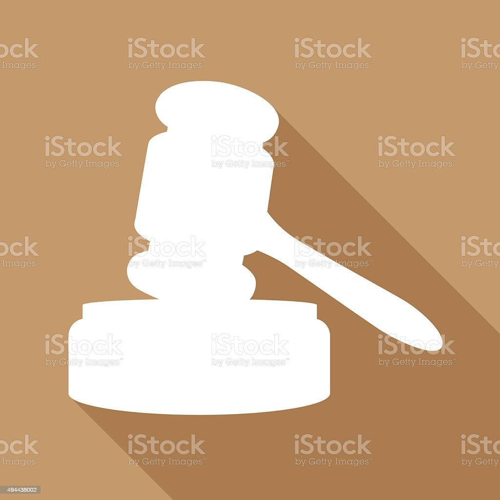 Gavel Icon vector art illustration