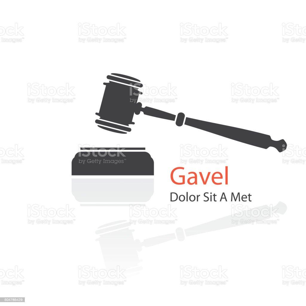 gavel icon vector art illustration