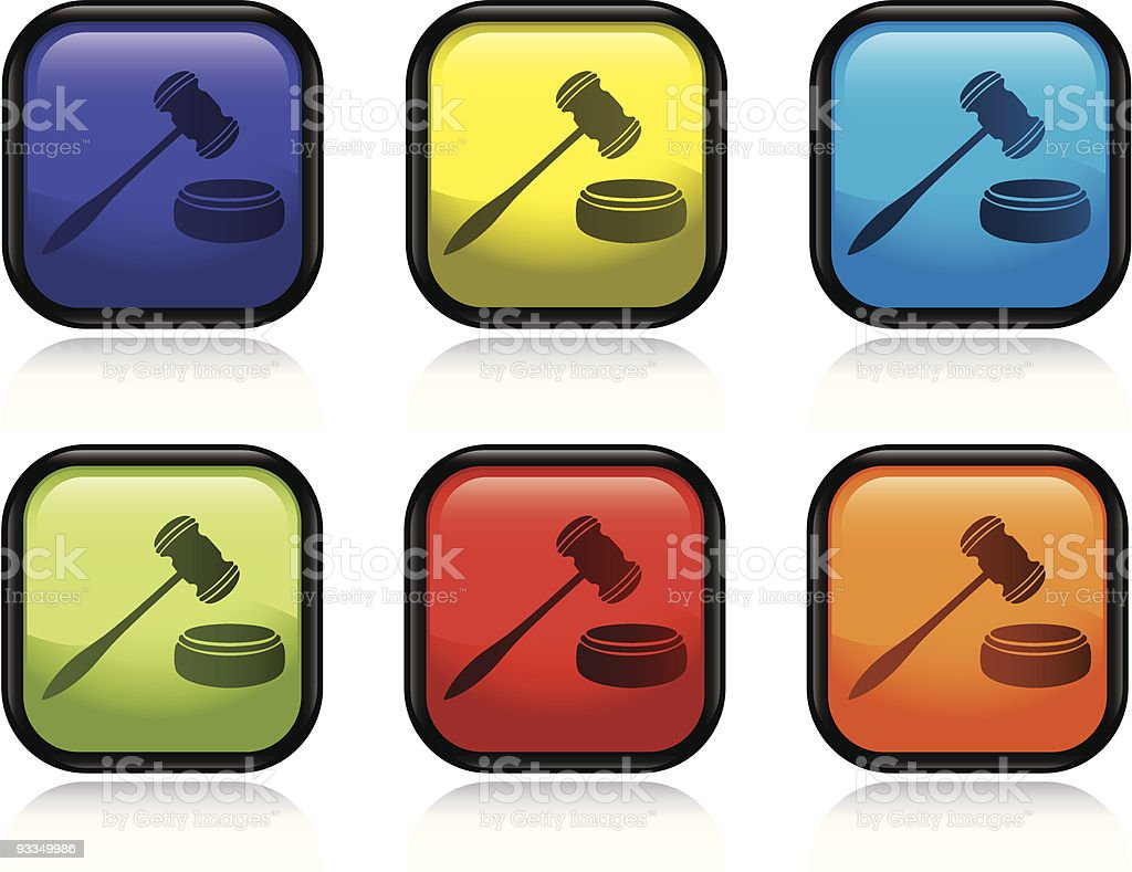 Gavel Icon royalty-free stock vector art