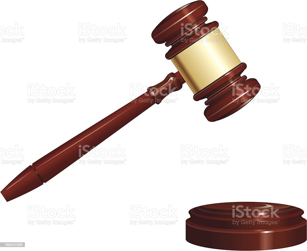 Gavel royalty-free stock vector art