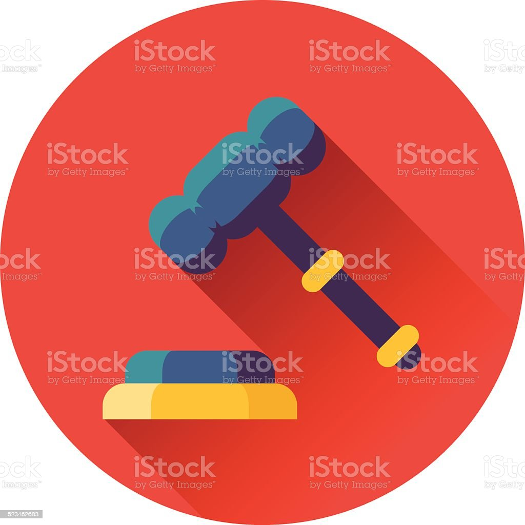 gavel with stand icon vector art illustration