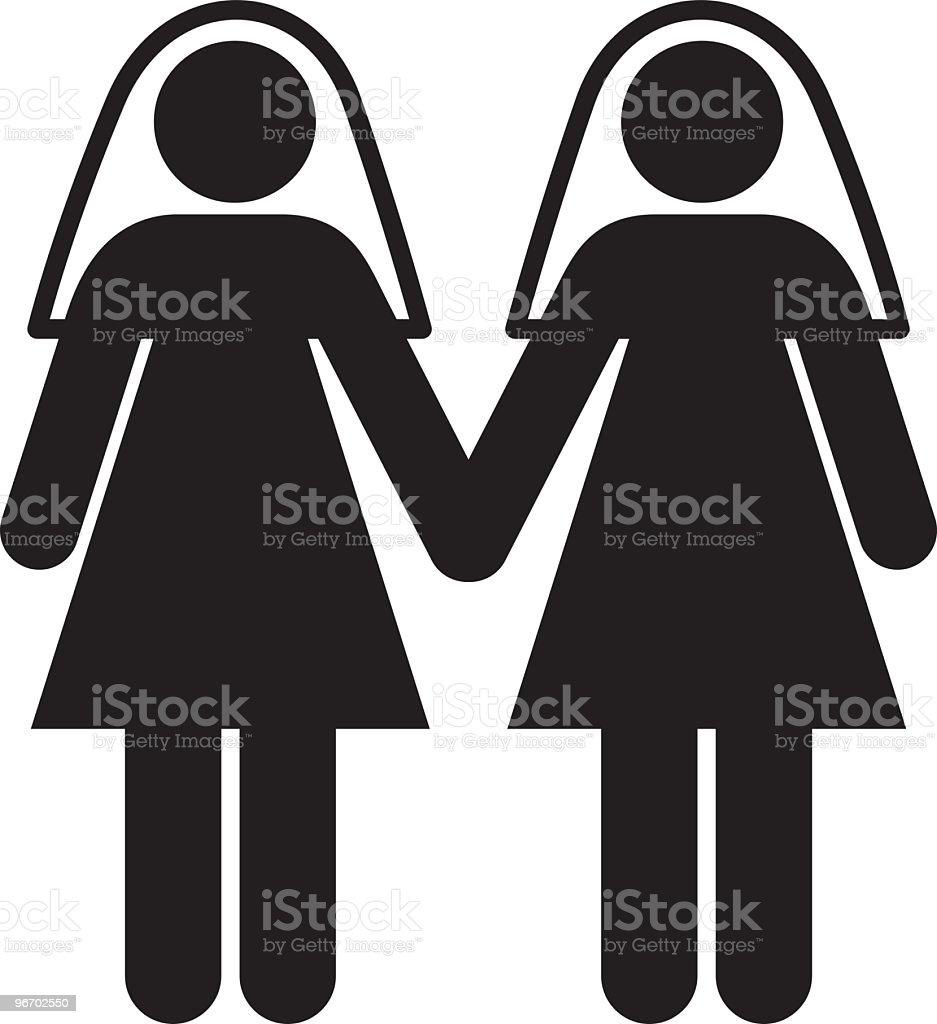 Gay Brides vector art illustration