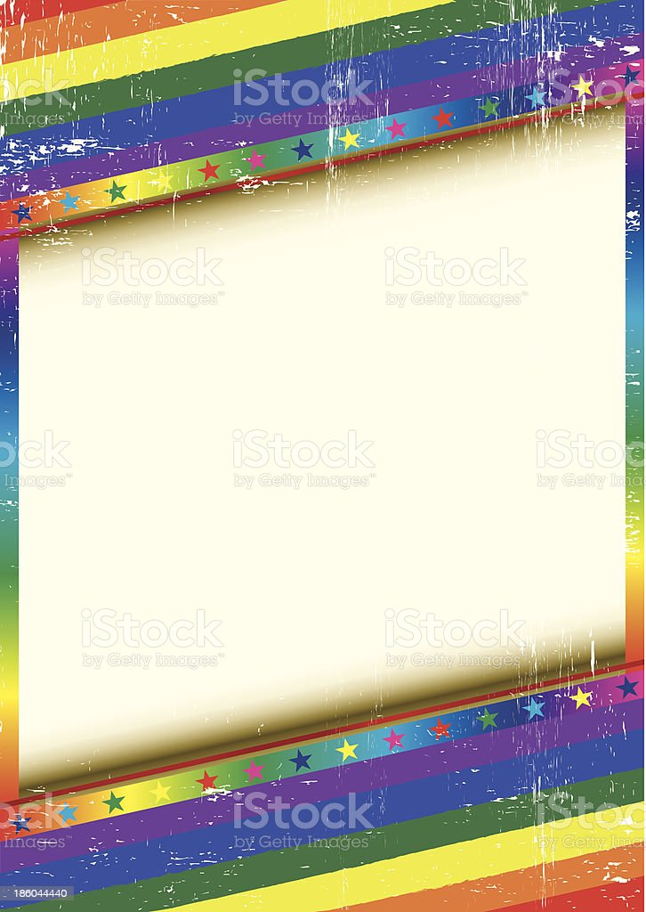 Gay frame with a texture vector art illustration