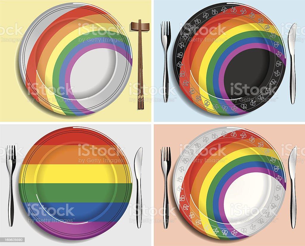 Gay friendly Restaurant royalty-free stock vector art