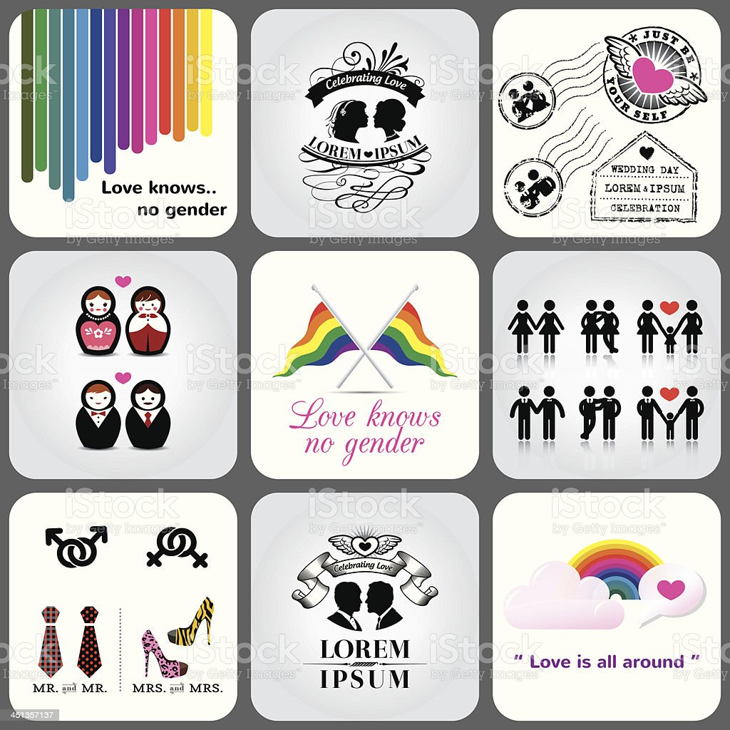 Gay & Lesbian Icon and Design Element vector art illustration