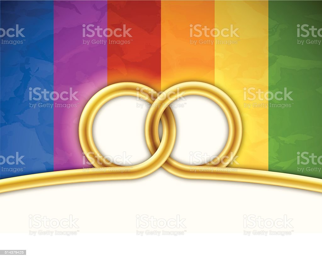 Gay Marriage Background vector art illustration