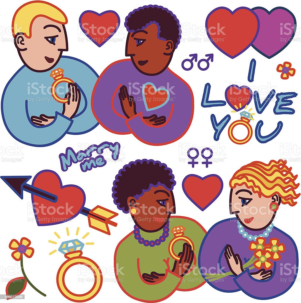 gay marriage royalty-free stock vector art
