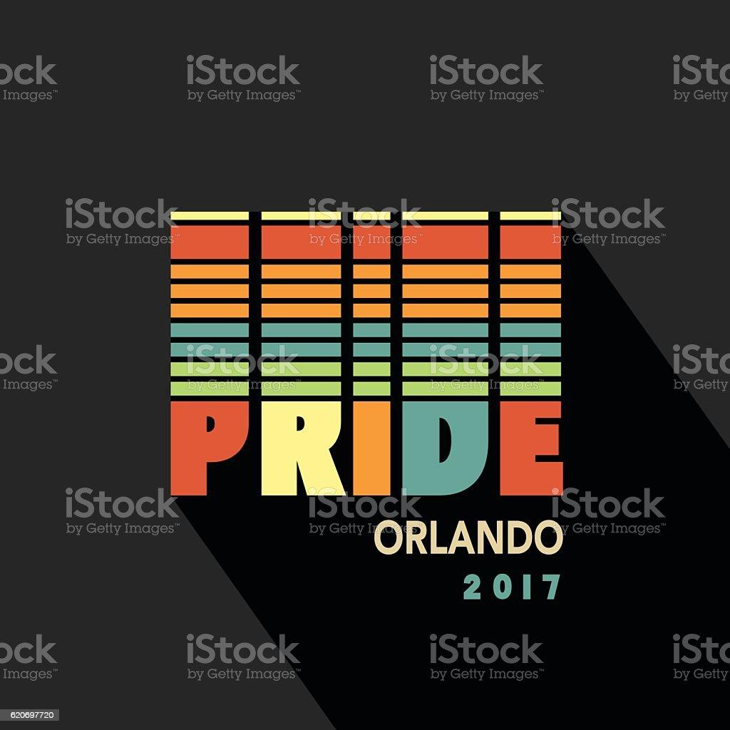 Gay Pride 2017 poster rainbow spectrum flag vector art illustration