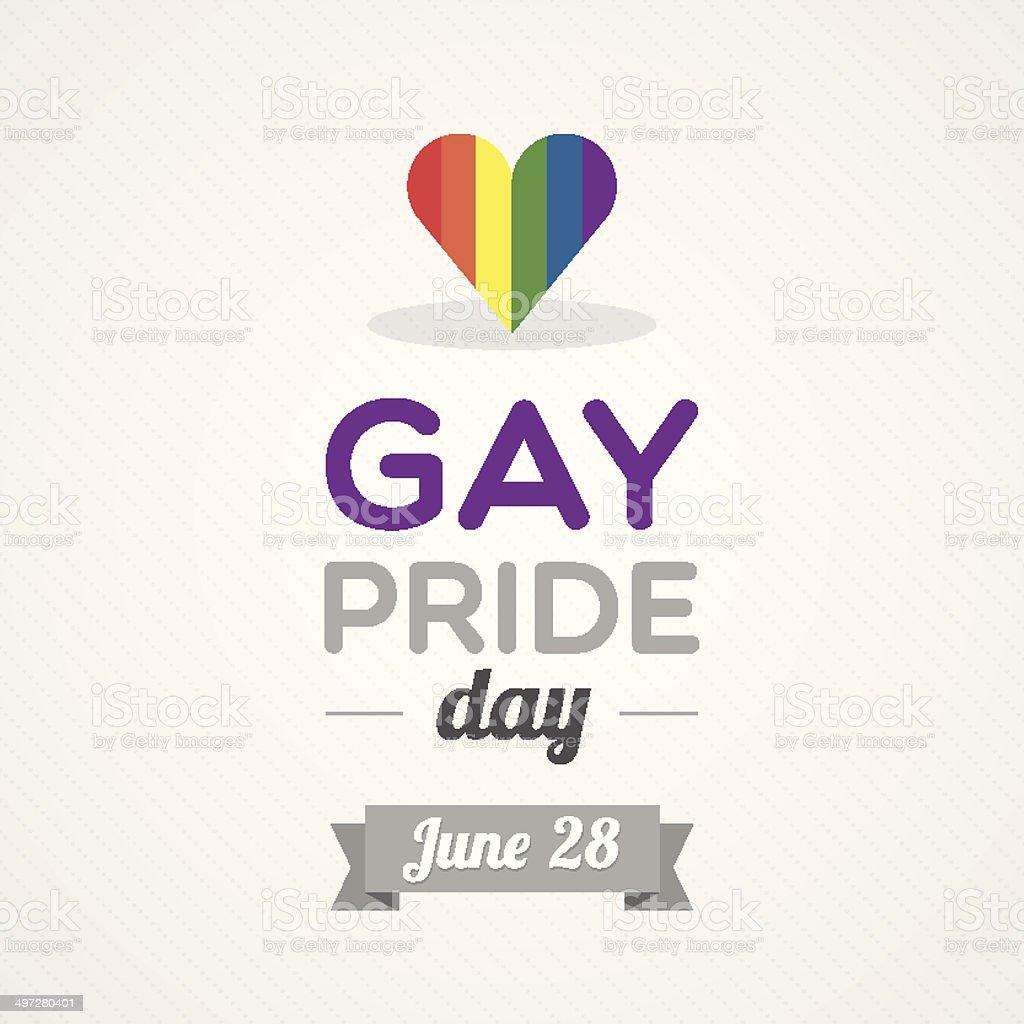 Gay Pride Day vector art illustration