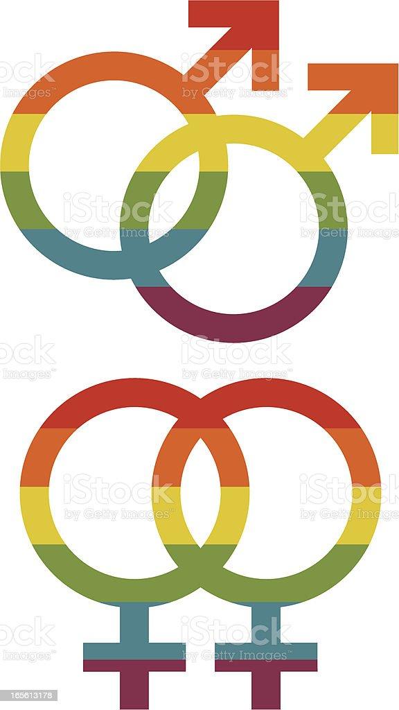 Gay Pride Gender Symbols royalty-free stock vector art