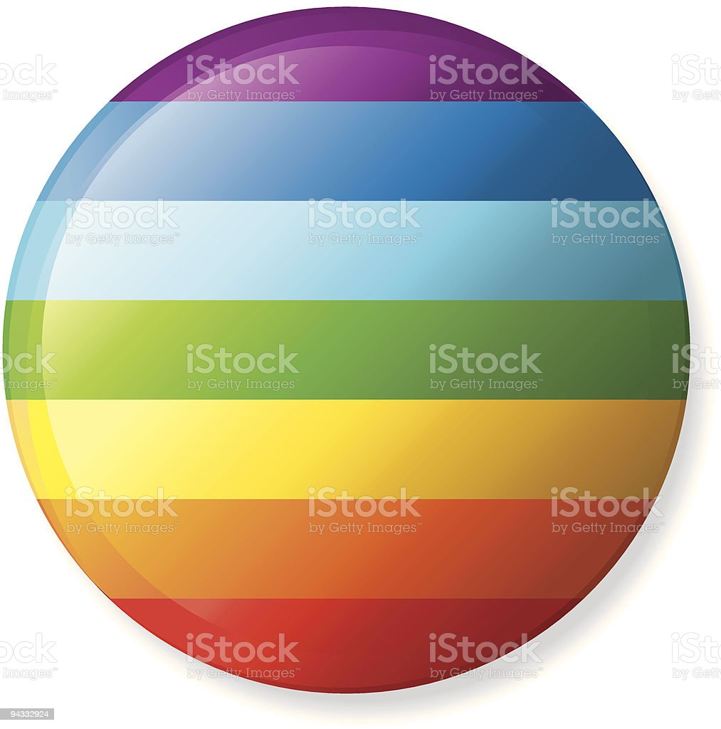 Gay Pride Lapel Button royalty-free stock vector art
