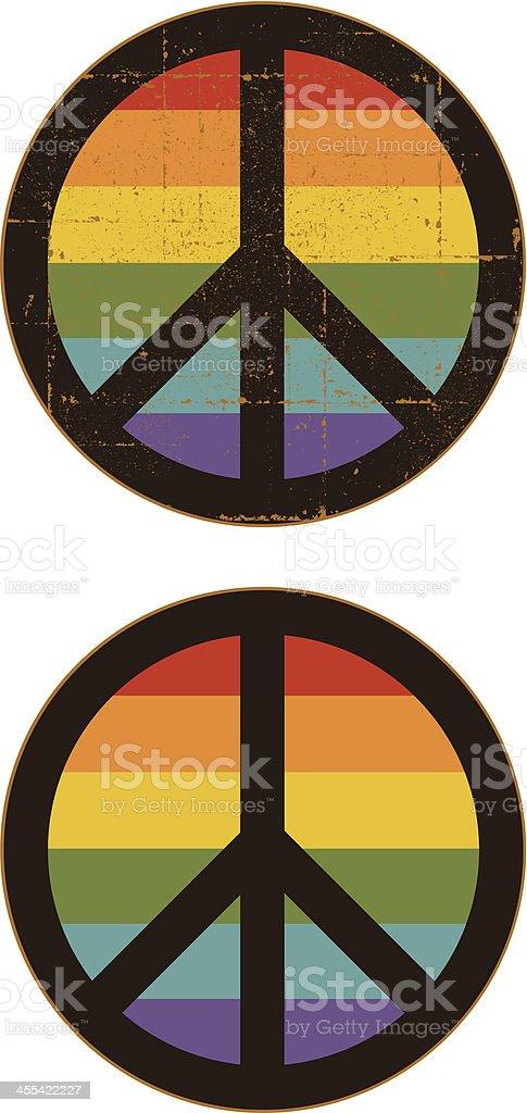 Gay Pride Peace Symbol Set royalty-free stock vector art