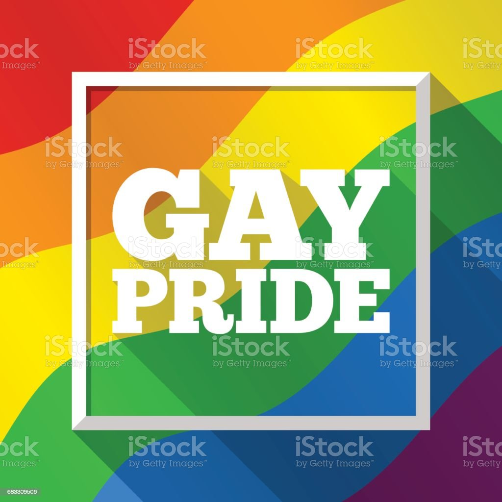 Gay Pride rainbow background. Vector illustration in LGBT flag colors. Symbol of peace and tolerance, equal rights, social equality. Modern colorful template for Pride Month, parade, special events vector art illustration