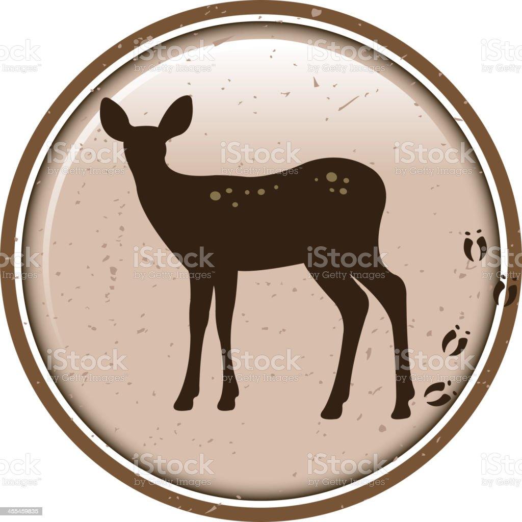 gazelle silhouette label vector art illustration