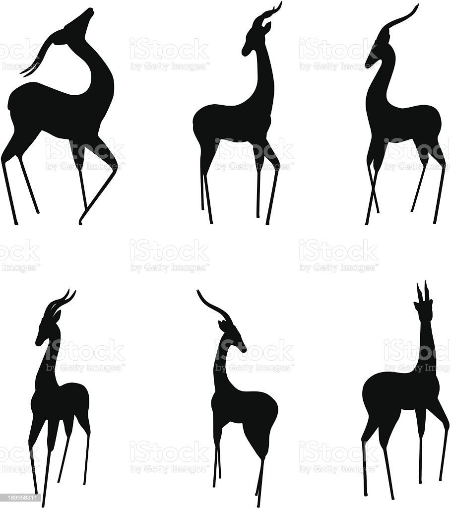Gazelle vector art illustration