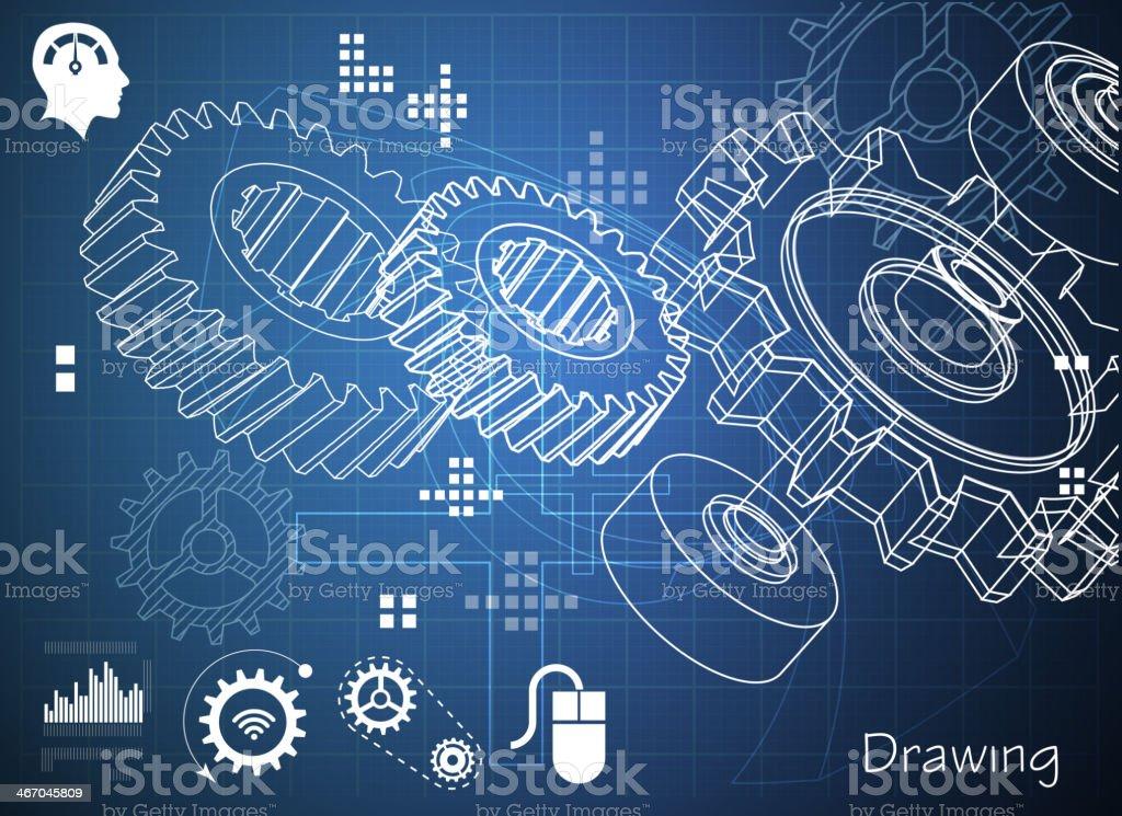 Gear Abstract Background vector art illustration