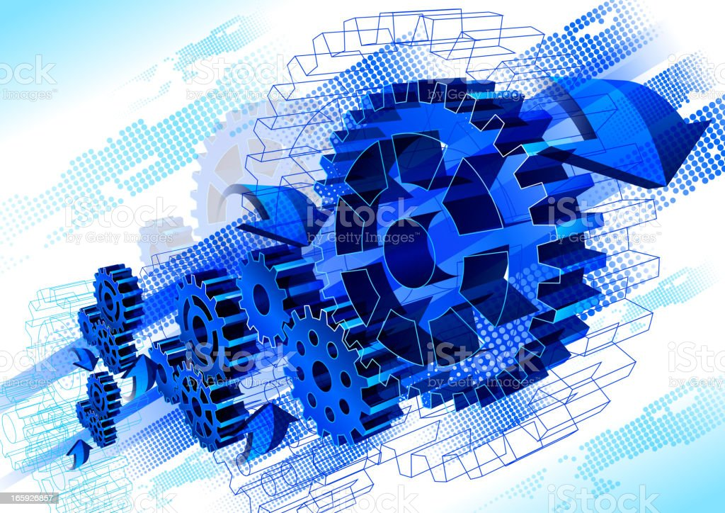 Gear Abstract Technology royalty-free stock vector art