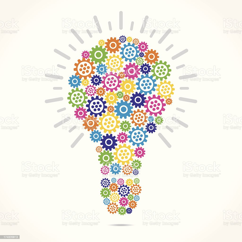 gear bulb royalty-free stock vector art