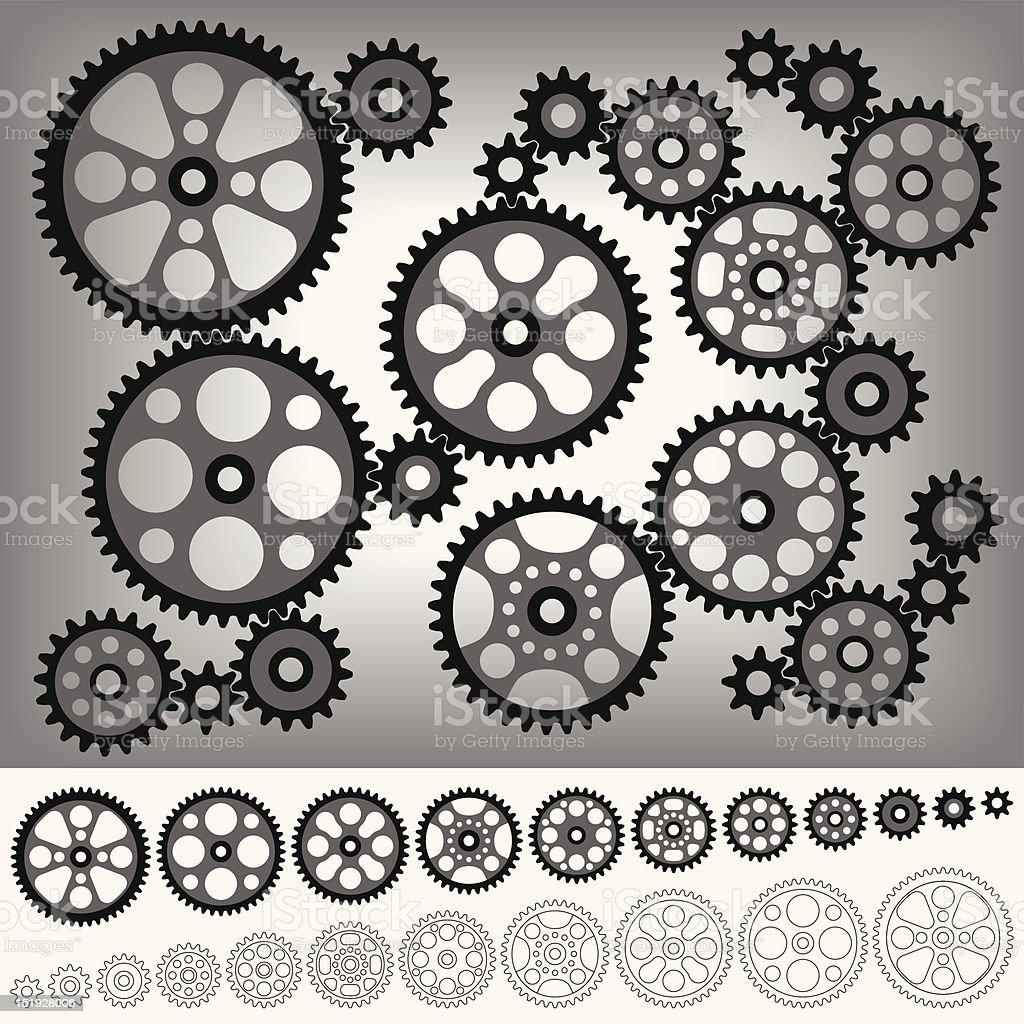 Gear Collection royalty-free stock vector art