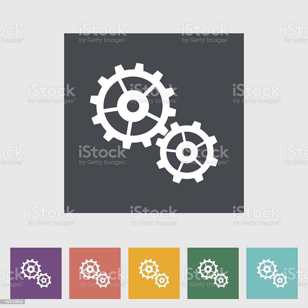 Gear flat icon. royalty-free stock vector art