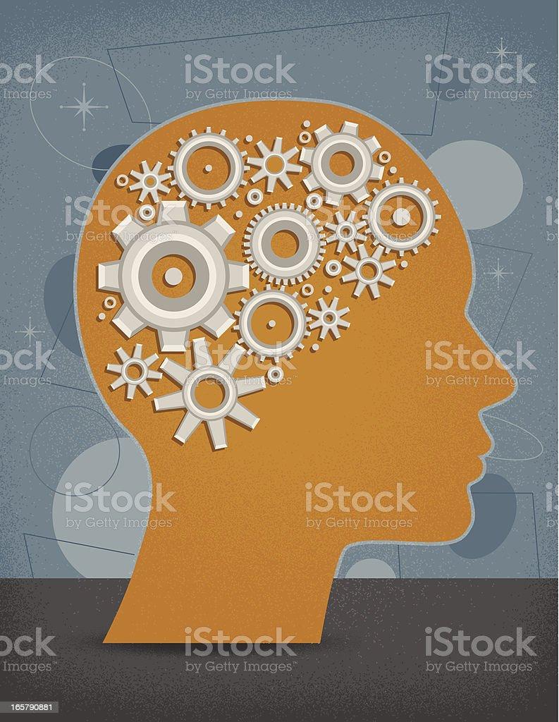 Gear Head royalty-free stock vector art