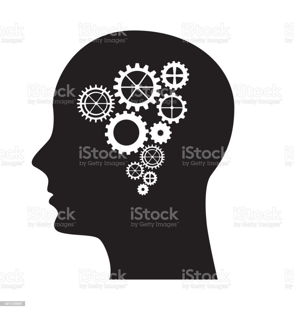 gear head vector art illustration