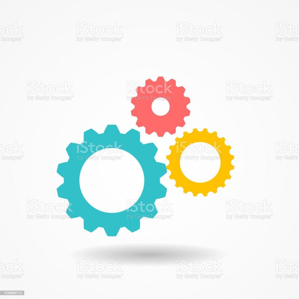 Gear Icon Vector Illustration vector art illustration