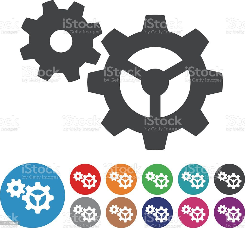 Gear Icons - Graphic Icon Series vector art illustration